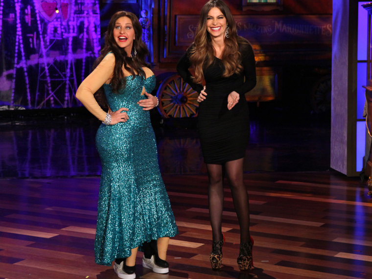 Daytime talk host Ellen DeGeneres dressed up as her guest and fellow CoverGirl, Sofia Vergara, on Wednesday's show.