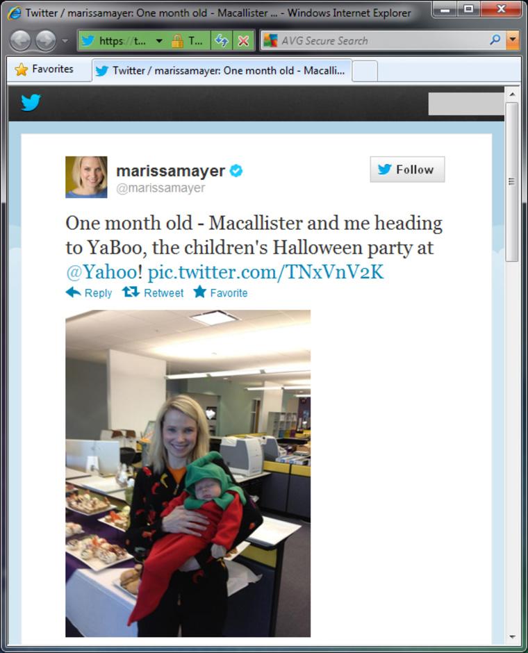 Image: Marissa Meyer's tweet