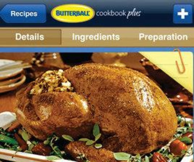 Butterball's app for Thanksgiving costs $4.99.