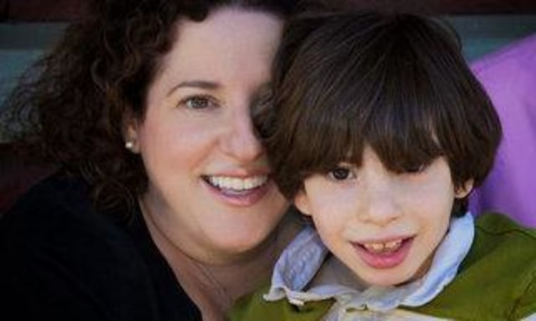 Ellen Seidman and her son, Max, are stuck at home during the hurricane.