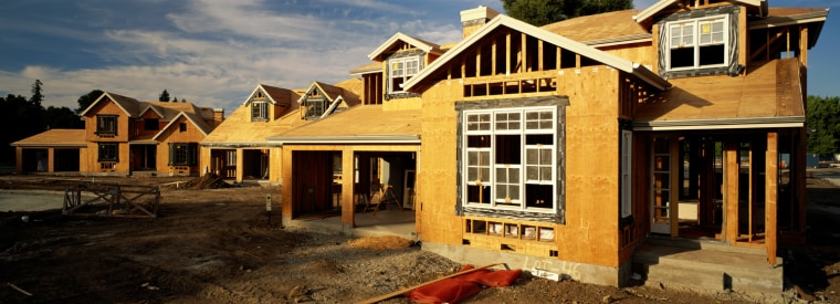 New houses rise in Silicon Valley, Calif., where homes routinely sell for $1 million or more.