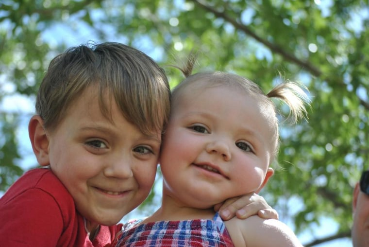 Colton and Abbygail Ainslie are among three U.S. kids treated for a rare immune deficiency syndrome