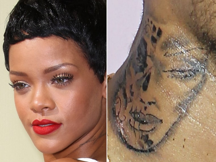 Is Chris Brown's new tattoo supposed to be a battered Rihanna?