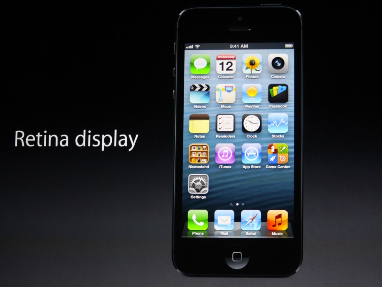 Apple shows off the iPhone 5.