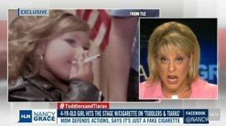 "Nancy Grace took one ""Toddlers & Tiaras"" mom to task Wednesday night."
