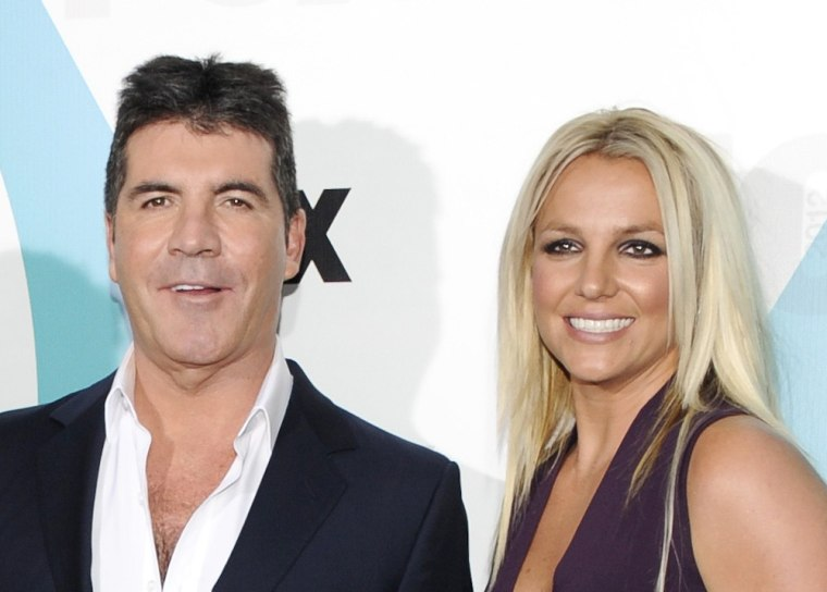 ""\""""X Factor"""" judges Simon Cowell and Britney Spears.""760|544|?|en|2|4db95034f3586add5cbf737a19acb204|False|NSFW|0.35636162757873535