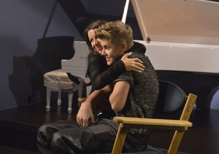 Justin Bieber and his mom Pattie Mallette.