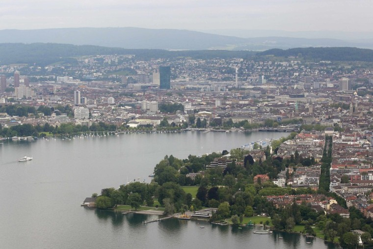 Zurich, the second most expensive city in the world to live, at least according to Swiss bank UBS.