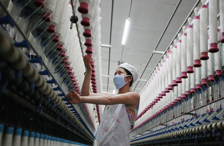 A recent report says 2.7 million U.S. jobs were lost to China between 2001 and 2011, and many of those were in the textile industry.