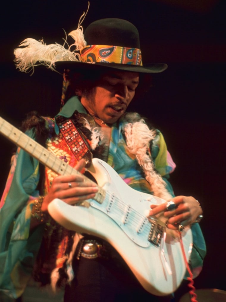 Jimi Hendrix in 1969.