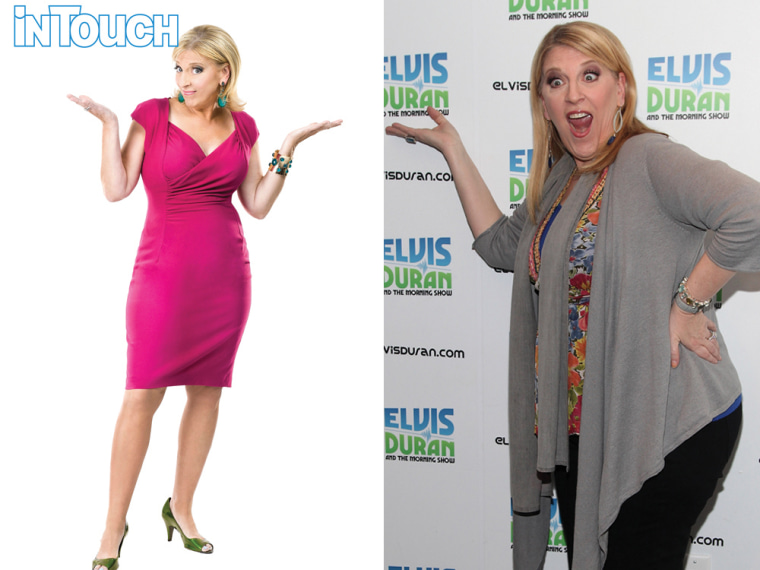 Lisa Lampanelli shows off her new look, left, and in New York in February.
