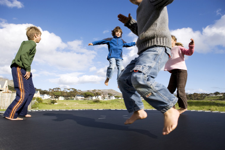 Nearly 100,000 were injured on trampolines in 2009, the last year for which there is complete data, pediatricians warn.
