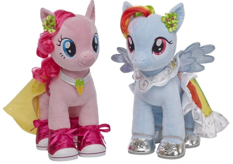 Now you, too, can create a My Little Pony character at Build-A-Bear Workshop stores throughout North America.