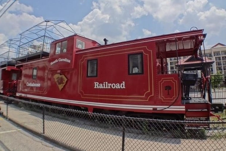 Prime real estate: A row of 22 cabooses, coined