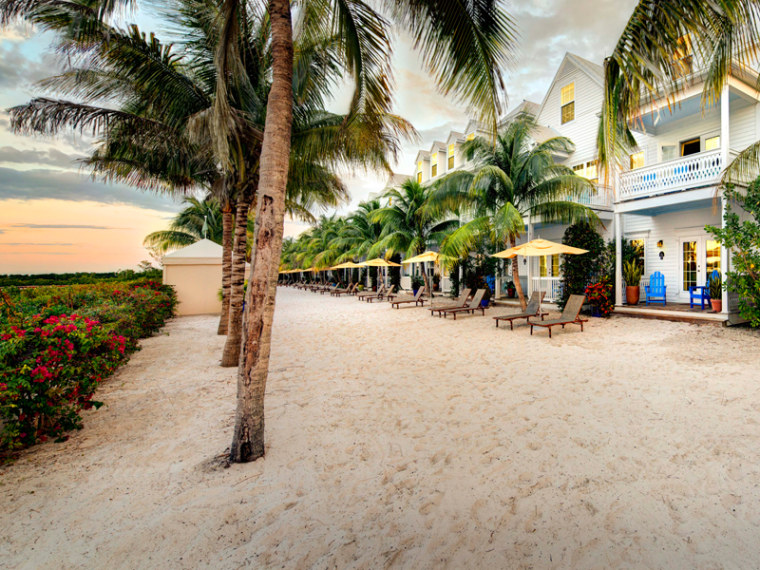 The waterfront rooms in the Parrot Key Resort in Key West have outdoor space and there are tropical gardens and four pools in the hotel, with doubles for $179 per night.