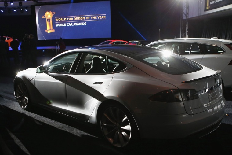 The Tesla Model S, which won the 2013 World Green Car of the Year award at the New York Auto Show last week, costs about $70,000. Tesla unveiled a fin...