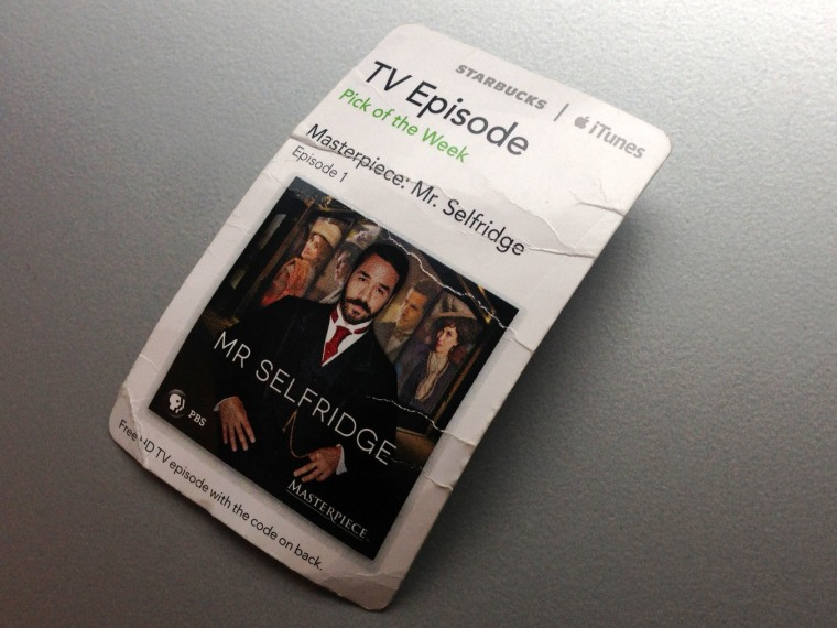 iTunes Starbucks download card for