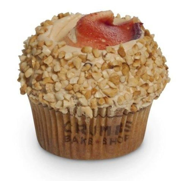 Crumbs Bake Shop is offering a peanut butter flavored cupcake filled with strawberry preserves all month. Get the recipe below!