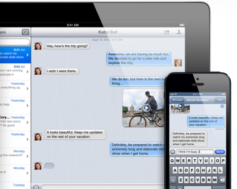 iMessage on iPad and iPhone
