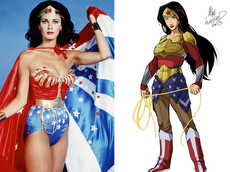 Wonder how much more crime-fighting she could accomplish if she didn't have to worry about busting out of her costume? One artist has re-imagined iconic female superheroes, fully dressed.
