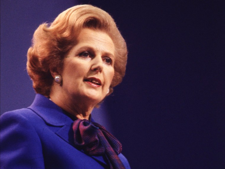 Image: FILE PHOTO:  Margaret Thatcher - October 13, 1925 - April 8, 2013. Baroness Margaret Thatcher, 85, Britain's Prime Minister from 1979 to 1990, ...