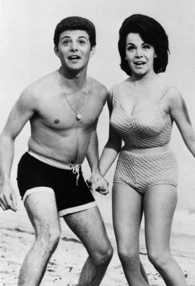 """Annette Funicello starred with Frankie Avalon in a series of """"Beach Party"""" movies in the 1960s."""
