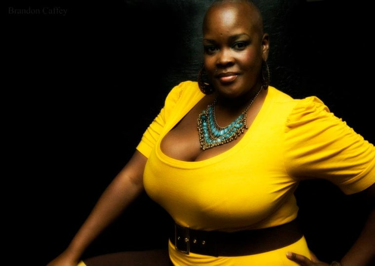 """Here's Sonya Renee Taylor, who started """"Bad Picture Monday,"""" in a much more flattering image."""