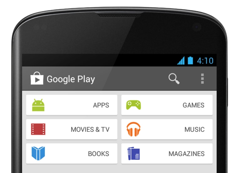 New Google Play on Android phone