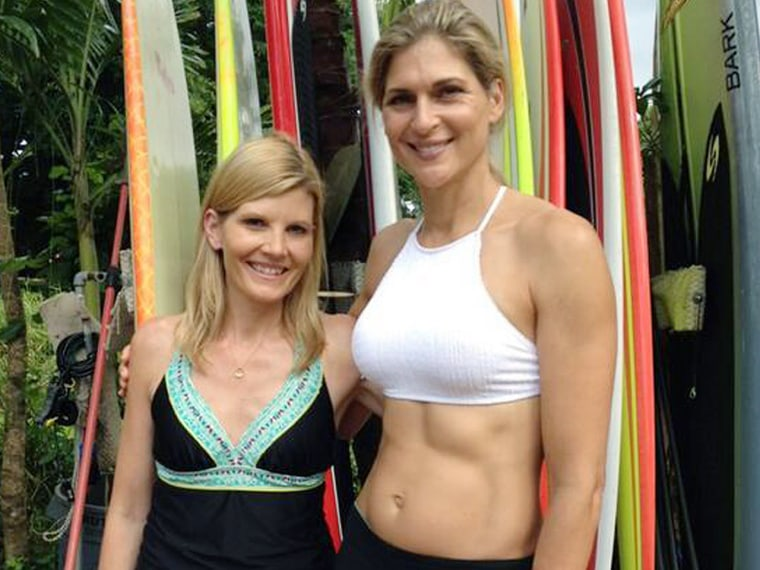 Gabby Reece and Kate Snow