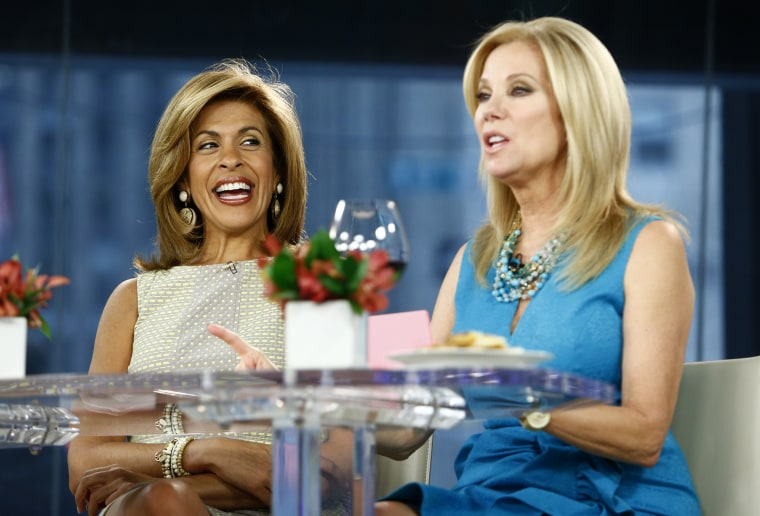 """Hoda Kotb and Kathie Lee Gifford appear on NBC News' """"Today"""" show -- (Photo by: Peter Kramer/NBC/NBC NewsWire)"""
