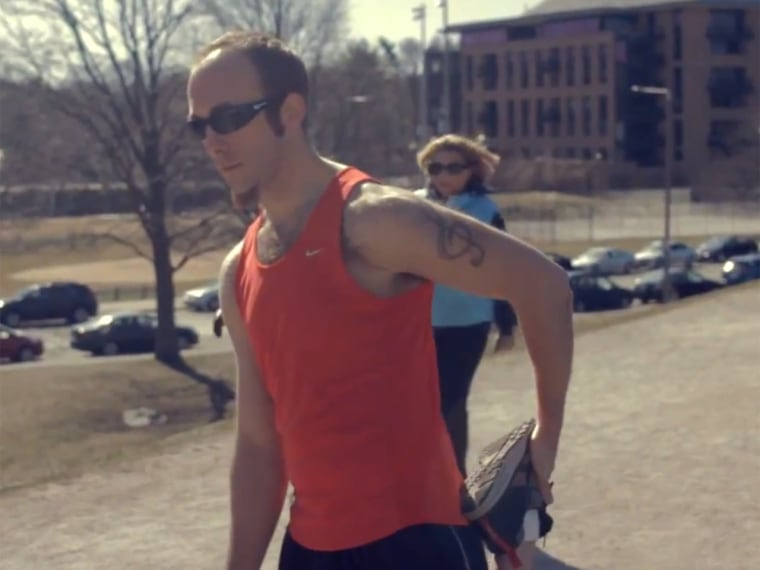 Josh Crary is one of 40 blind and visually impaired athletes running in the Boston Marathon this year.