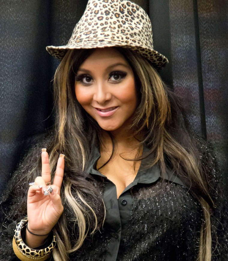 """Nicole """"Snooki"""" Polizzi promotes her new book """"Gorilla Beach"""" in White Plains, N.Y., on May 19."""