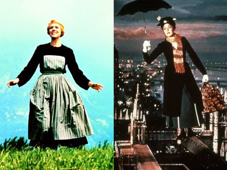 """Julie Andrews as Maria in \""""Sound of Music\"""" and Mary Poppins in ... you know."""