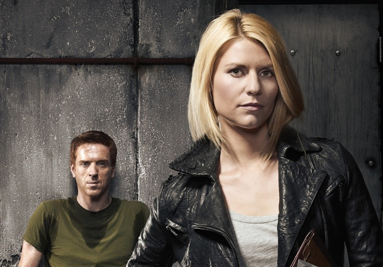 """Damian Lewis as Nicholas \""""Nick\"""" Brody and Claire Danes as Carrie Mathison in \""""Homeland.\"""""""