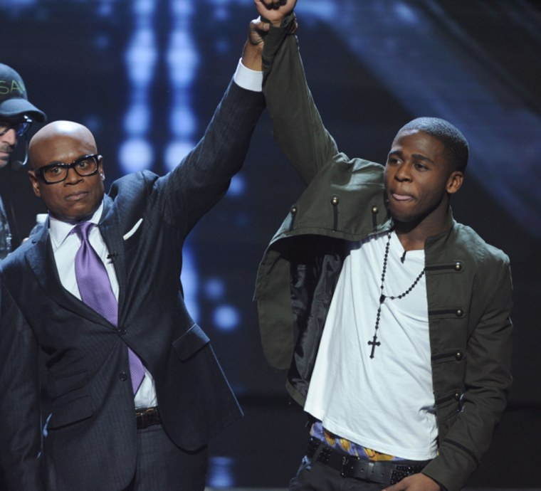 L.A. Reid embraced his duty as a judge by congratulating Marcus Canty, but Nicole Scherzinger had a harder time of it.