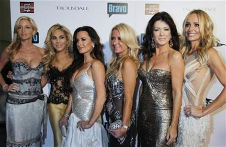 """Thanks to cameras, what happens in Vegas on \""""The Real Housewives of Beverly Hills\"""" (pictured: Camille Grammer, Adrienne Maloof, Kyle Richards, Kim Richards, Lisa Vanderpump and Taylor Armstrong) does not stay in Vegas."""