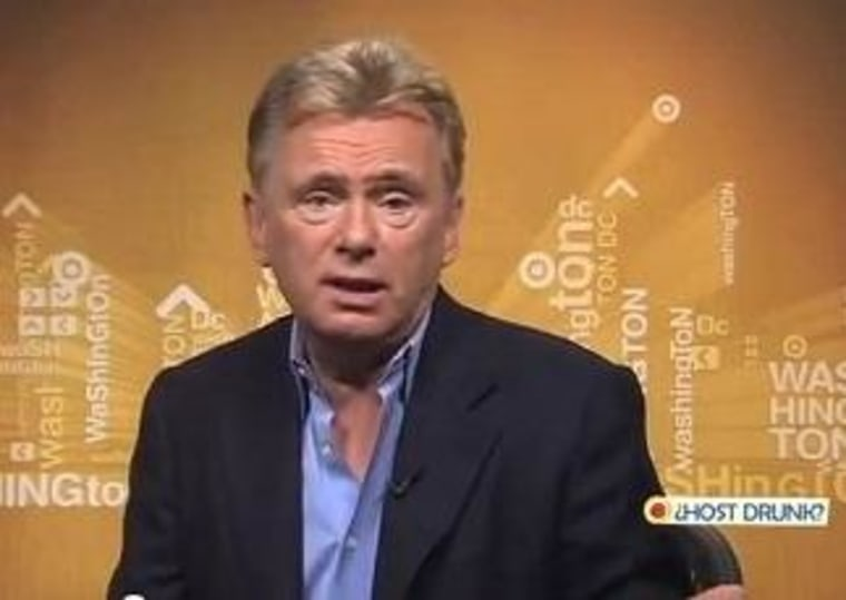 """Wheel of Fortune"" host Pat Sajak admits he hosted the show while drunk during his early days."