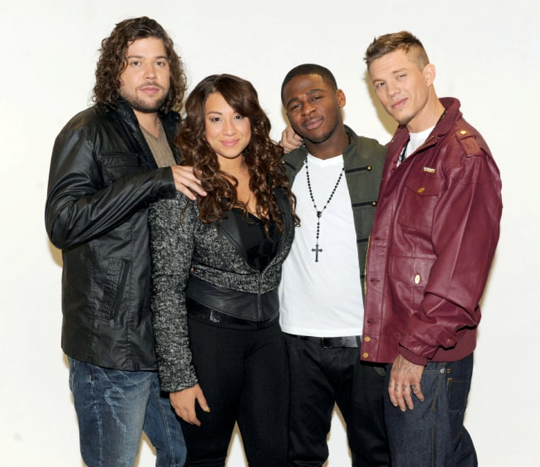 'X Factor's' final four: Josh Krajcik, Melanie Amaro, Marcus Canty and Chris Rene