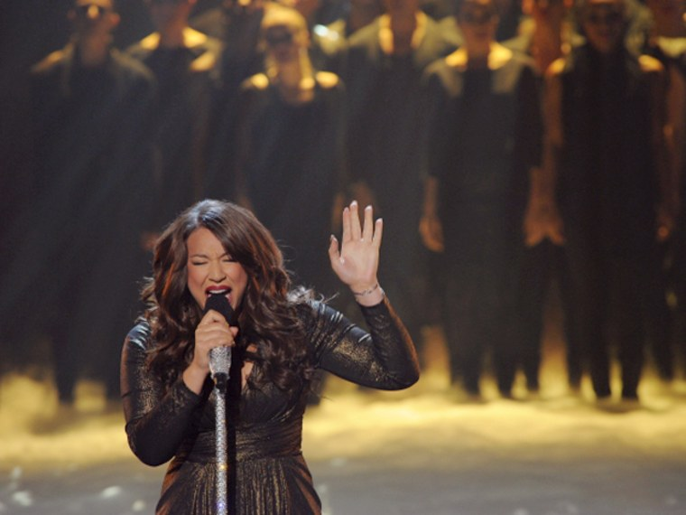 Melanie Amaro's performance was good, but Simon Cowell was still left begging for votes.