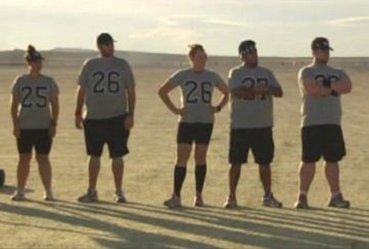 """Past and present players lined up for the last-chance marathon on Tuesday night's \""""Biggest Loser.\"""""""