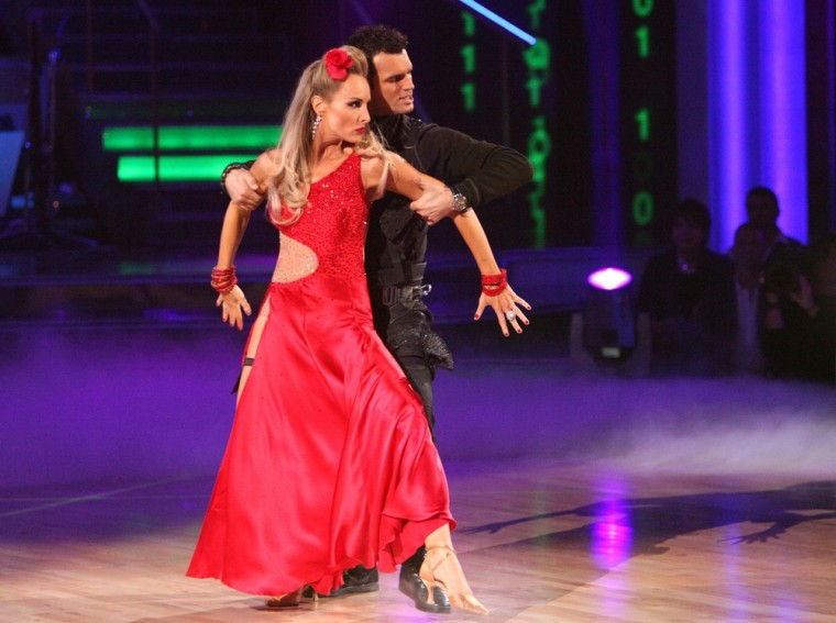 Despite displaying a lot of ballroom potential, singer Chynna Phillips and pro partner Tony Dovolani were eliminated after she forgot the steps to her tango on Monday night.