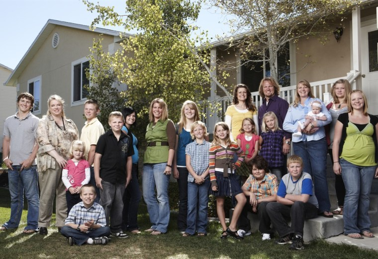 """The Brown family on \""""Sister Wives.\"""""""