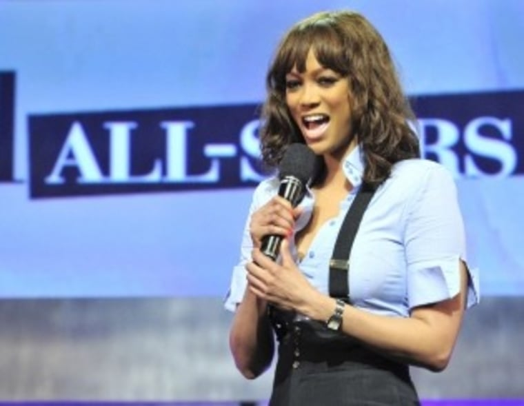 """Tyra Banks and \""""America's Next Top Model\"""" -- the all-stars edition -- will premiere Sept. 14."""