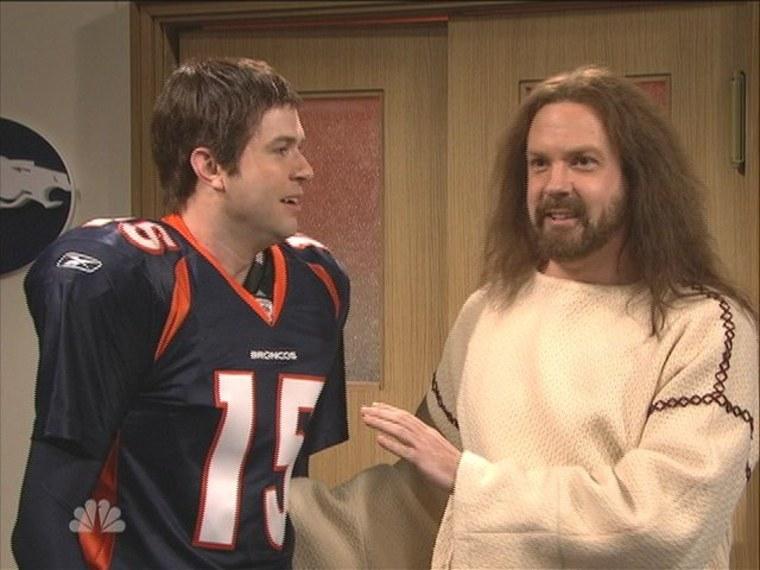 Jesus visited Tim Tebow and the Denver Broncos locker room on