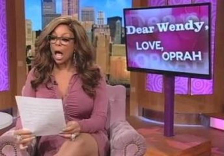 Wendy Williams reads a letter from former talk titan Oprah Winfrey.