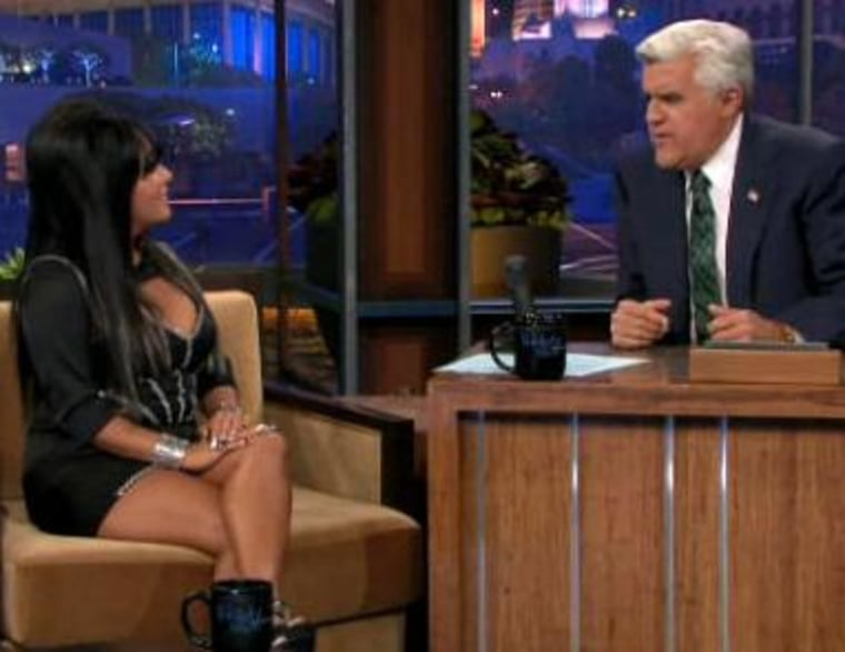 """Nicole \""""Snooki\"""" Polizzi shares her weight loss secrets with Jay Leno."""