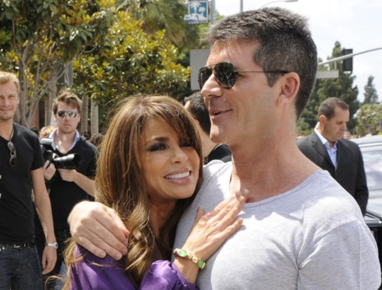 """Just like old times! Paula Abdul and Simon Cowell are together again on \""""The X Factor\"""" panel."""