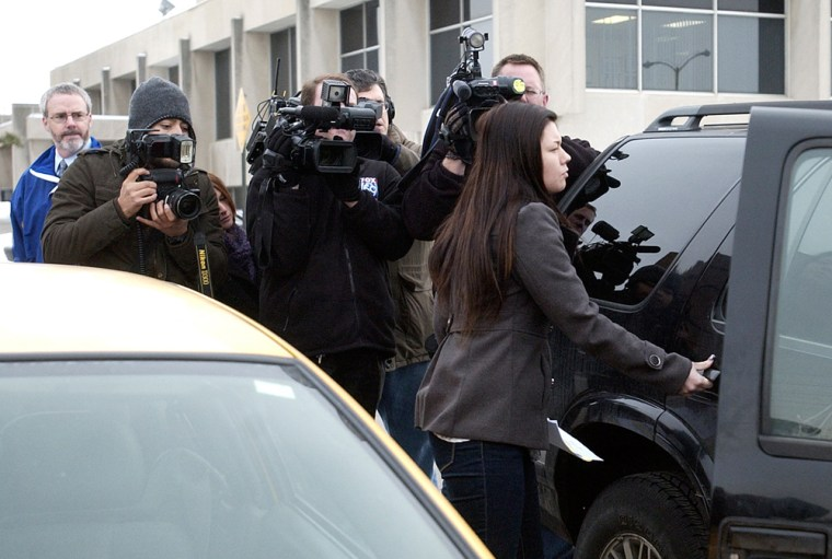 Photographers followed Amber Portwood as she left the Madison County Jail in Anderson, Ind., after bonding out on felony battery and neglect charges on Tuesday, Dec. 28, 2010.