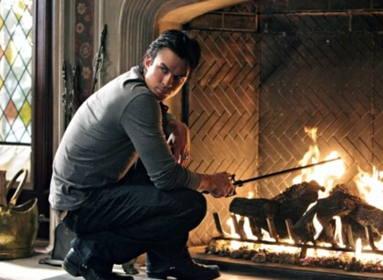 We wouldn't be surprised to see a fireplace in Damon's bedroom.