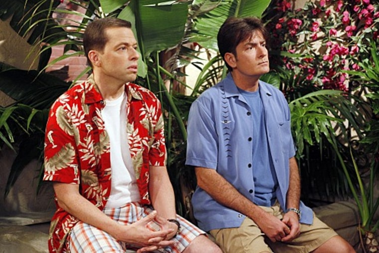 Jon Cryer, left, dished to  Conan O'Brien on being on set with headline-making co-star Charlie Sheen.